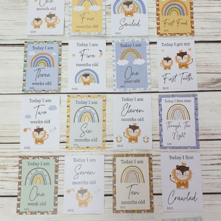 Little Lion Baby Milestone Cards